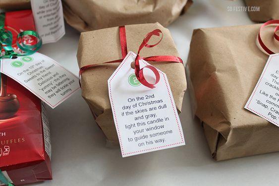 Easiest Gifts For 12 Days Of Christmas Printable Tags 12 Days Of Christmas 12 Days Of Xmas Christmas Printables