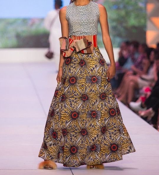 Cameroon Ensemble and Pleated Wrap