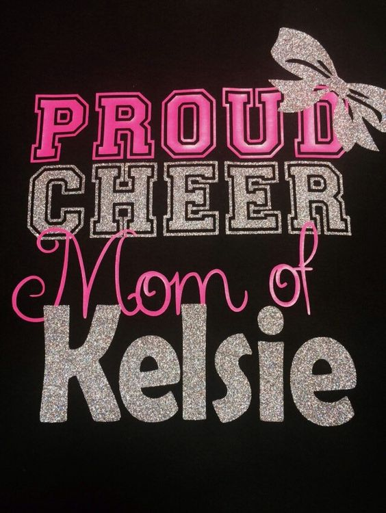 Proud Cheer Mom T-shirt by TableTopsandTiaras on Etsy https://www.etsy.com/listing/243255688/proud-cheer-mom-t-shirt