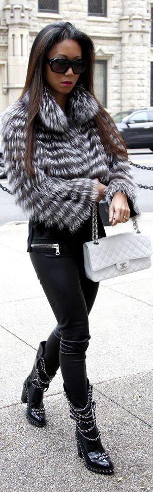 Chanel Chain Boots & Bag #GetStyled #StylingOn #Fashion #StylistOnDuty