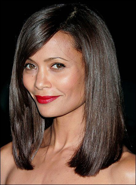 Marvelous Bangs Medium Hairstyles And Black Women On Pinterest Hairstyle Inspiration Daily Dogsangcom