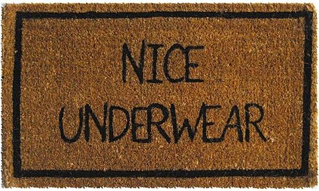 ha ha as a door mat....would never do but this is funny!