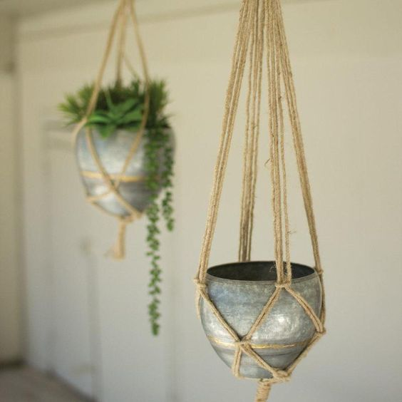 SET OF 2 HANGING GALVANIZED PLANTERS WITH WOVEN JUTE ROPE. Three Tiered Metal Tube Frame Wall Shelf.It can rest on the floor or hang on the wall! #home #homedesign #homedesignideas #homedecorideas #homedecor #decor #decoration #diy #kitchen #bathroom #bathroomdesign #LivingRoom #livingroomideas #livingroomdecor #bedroom #bedroomideas #bedroomdecor #homeoffice #diyhomedecor #room #family #interior #interiordesign #interiordesignideas #interiordecor #exterior #garden #boho #rustic #modern