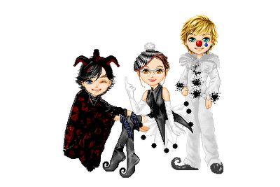 Pierrot, Colombina e Arlequim