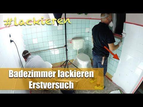Fliesen Lackieren Im Badezimmer Fliesen Streichen Im Erstversuch Youtube Fliesen Lackieren Badezimmer Fliesen Fliesen