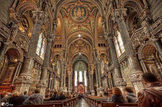 Inside Notre-Dame de Fourviere Basilique