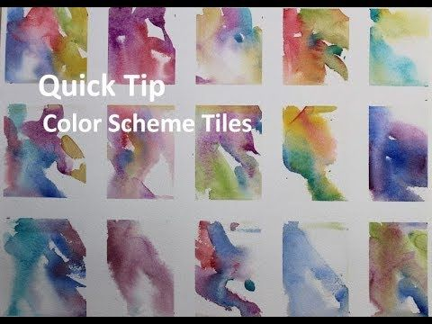 Transparent Watercolor Quick Tip Color Schemes Exercise Youtube