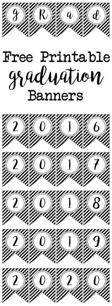Graduation Banner Free Printables | Graduation, Printable ...