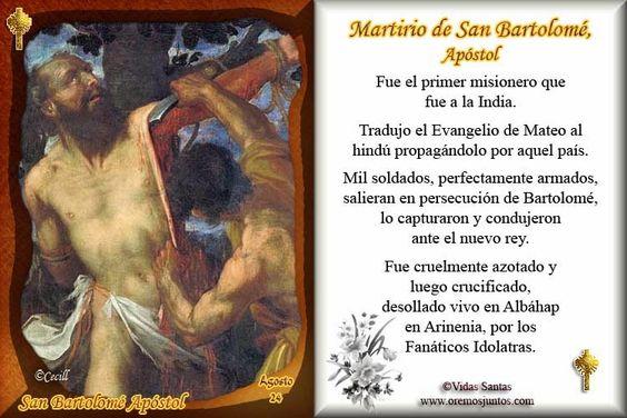 Vidas Santas: Cómo murieron los Apóstoles? San Bartolomé