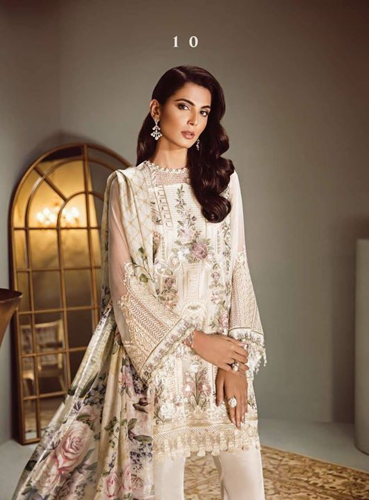 a5cc0e70b7 Isabella Embroidered Chiffon Collection 2018 by BAROQUE Price Rs.7950 Shop  online at https:
