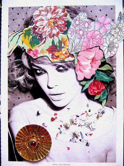 a head full of flowers. Ellen Von Unwerth #NastyGalFest