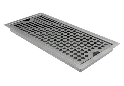 The Kegco Sedp 220d Flush Mount Drip Tray Is Constructed Of Stainless Steel With A Brushed Finish And Designed To Give Your Bar A Professional Look And Feel