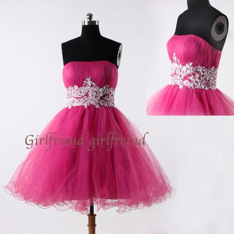 Cute rose strapless prom dress from Girlfriend #coniefox #2016prom