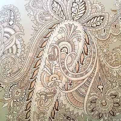 NEW Ralph Lauren King 4pc Sage Green Brown Tan Colonial Paisley Comforter Set