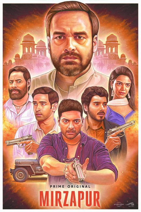Mirzapur Poster In 2020 Movies Online Amazon Prime Video Full