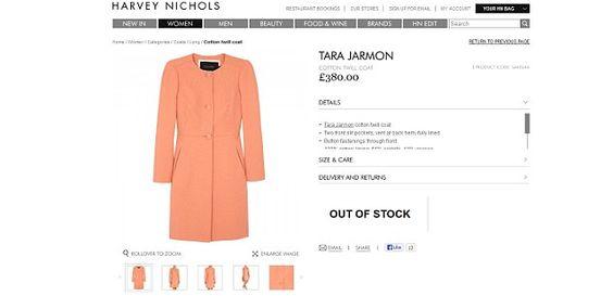 Kate's Harvey Nichols coat