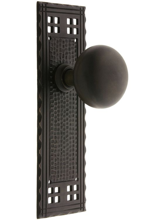 Door Knobs Arts Crafts Passage Door Set With Oil Rubbed Bronze Knobs E
