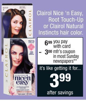 Cvs Clairol Hair Color Sale With Printed Coupon Starting 4 29 18 Modern Clairol Hair Color Clairol Hair Hair Color