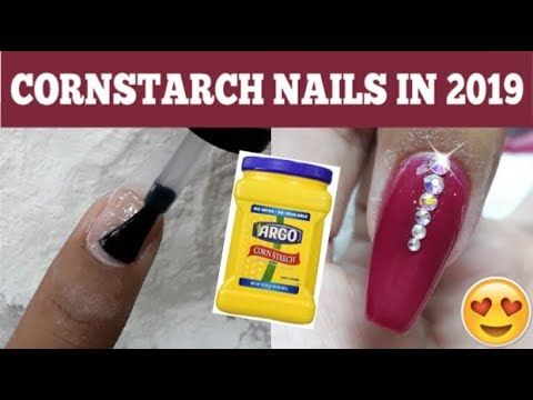 Step By Step Cornstarch Nails Tutorial In 2019 Diy Dip Powder Nails Youtube In 2020 Powder Nails Dip Powder Nails Acrylic Nails At Home