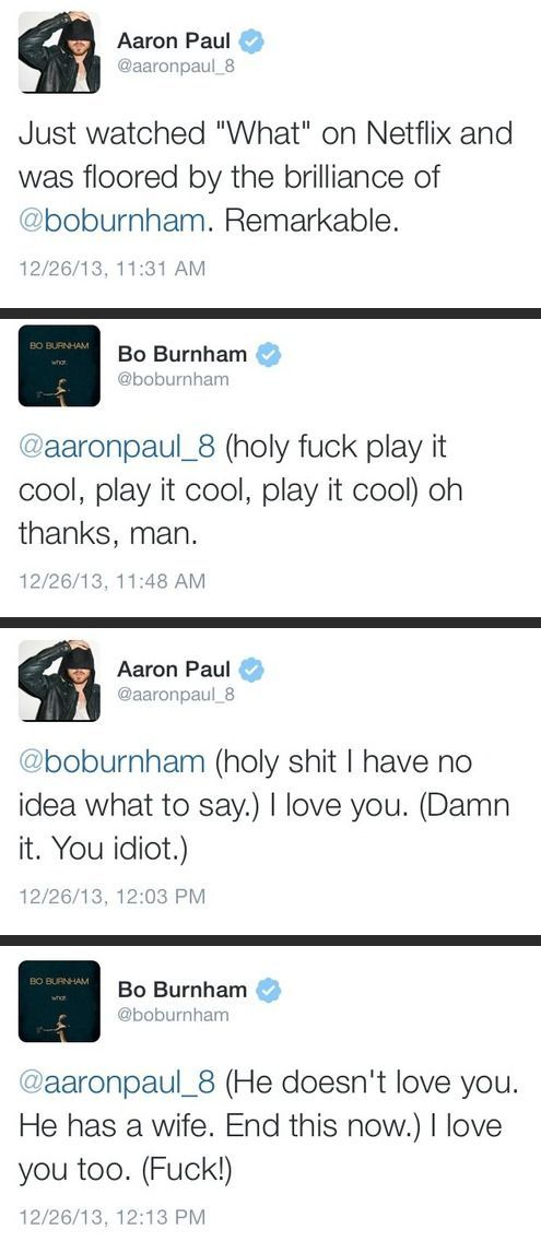 The bromance of Aaron Paul and Bo Burnham - http://limk.com/news/the-bromance-of-aaron-paul-and-bo-burnham-081375330/