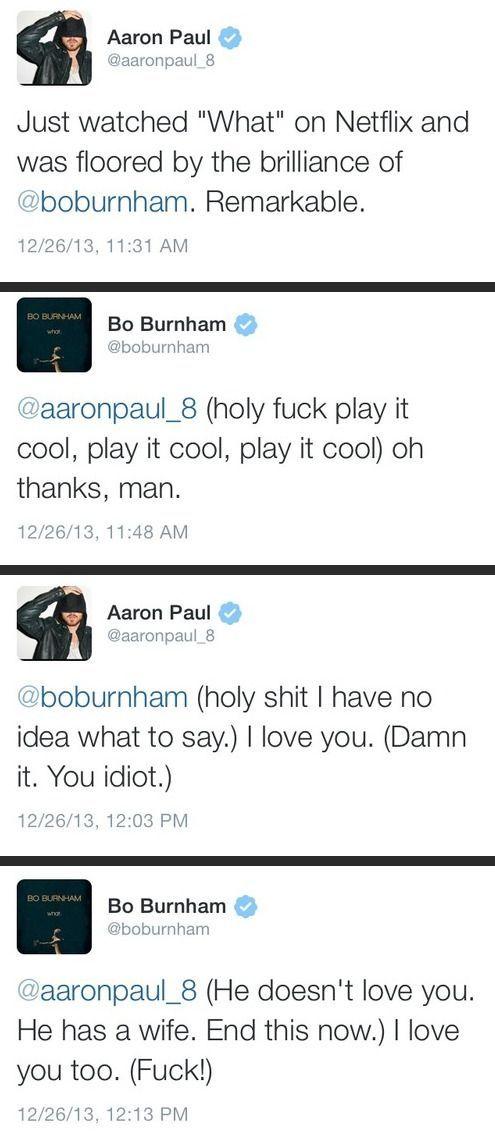 The bromance of Aaron Paul and Bo Burnham - http://limk.com/news/the-bromance-of-aaron-paul-and-bo-burnham-081375330/