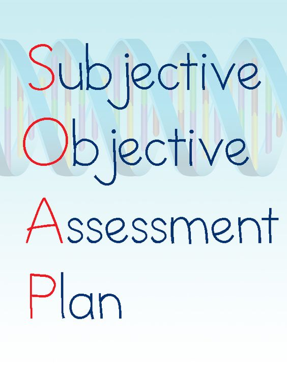 Subjective Objective Assessment Planning Note Subjective Objective