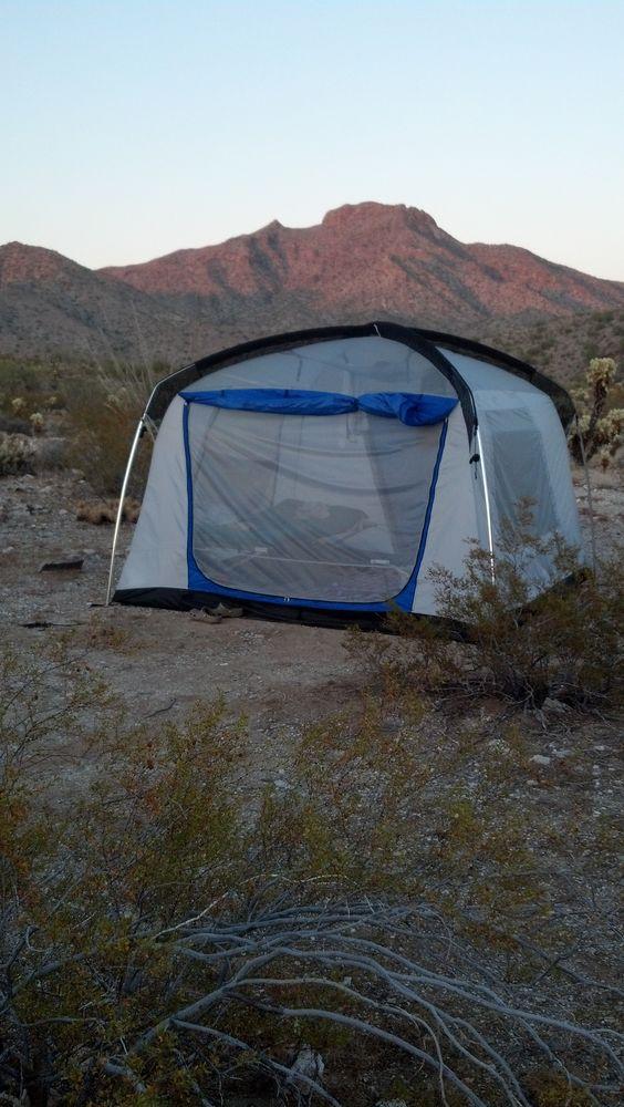 Camped in the Arizona Desert on the hardpack...primitive...