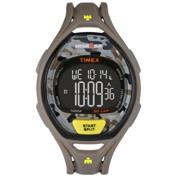 Timex Unisex TW5M013009J Ironman Sleek 50 Yellow/Gray Camo Watch