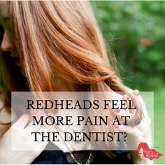 Have you heard that #redheads may feel more #pain at the #dentist? A redhead's genetic makeup may be causing them to feel more pain. We wanted to get to the nitty gritty. What is true and what is false?  We spoke with America's leading dentists to get the real scoop:   http://howtobearedhead.com/redheads-feel-more-pain-at-the-dentist-experts-weigh-in/