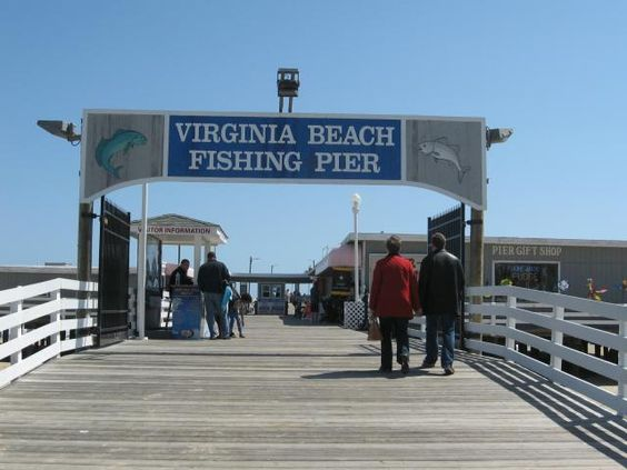 Virginia things to do and kid on pinterest for Virginia beach fishing pier