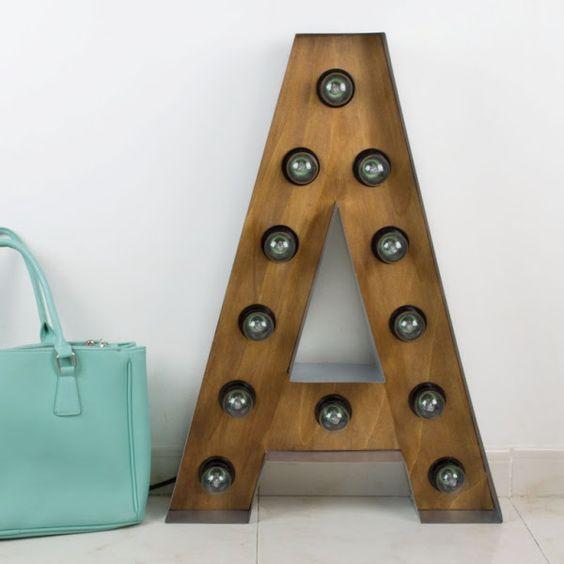 [DIY] Cómo hacer letras luminosas de madera y hierro | Decorar tu casa es facilisimo.com: