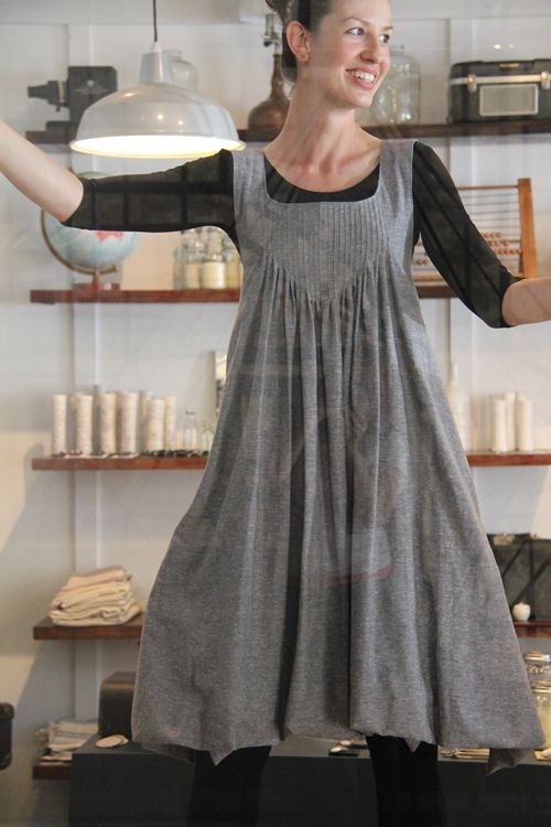 amazing pin tuck smock dress by ljstruthers
