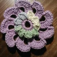 X993 Crochet Pattern : Pinwheel Applique by CraftingFriends Crocheting Pattern ...