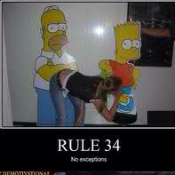 the simpsons rule 34