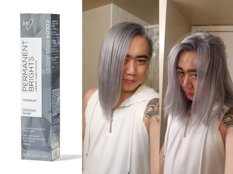 Color Brilliance Permanent Brights Titanium Grey Silver Hair Forever Youtube Silver Grey Hair Titanium Hair Color Ion Hair Colors