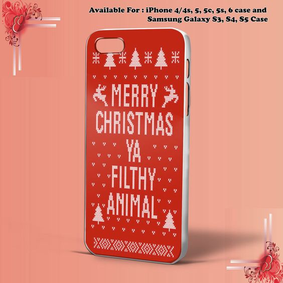MERRY CHRISTMAS YA FILTHY RED for iPhone case & samsung galaxy Case Hard Plastic