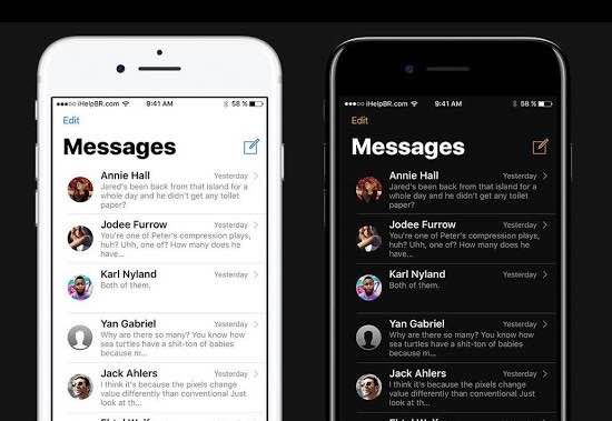 How To Activate Dark Mode On Your Iphone Mobile Ios Tipsandtricks Tutorial Apple Theme Iphone Phone Messages Apple