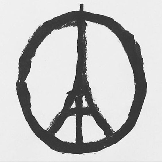 #prayforparis May God cover and comfort them with His loving arms. (Image by @jean_jullien )