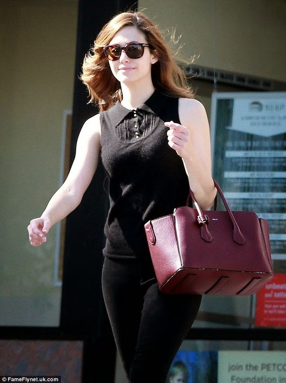 Gymnastics and More!: Emmy Rossum - Out and About - Los Angeles CA
