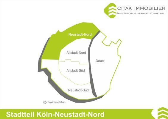 Stadtteil Köln-Neustadt-Nord Neustadt-Nord liegt in der Mitte Kölns nordwestlich der Altstadt. Sie erstreckt sich zwischen den Kölner Ringen und der Inneren Kanalstraße und wird im Süden durch die Aachener Straße und im Norden durch den Rhein begrenzt.