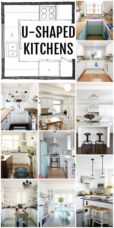 U shaped kitchen kitchen layouts and layout on pinterest for U shaped kitchen designs layouts