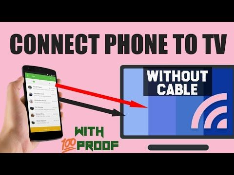 How To Connect Phone To Tv Wirelessly Connect Phone To Tv Without Any Cable Working With Proof Youtube Tv Connect Internet Phone Smartphone Hacks