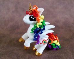 Rearing Rainbow Pony by DragonsAndBeasties