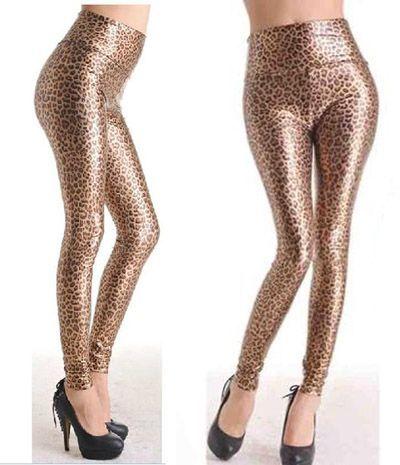 Sexy leggings leopardati lucidi - Leopardati - Taglia unica - Codice: 97004831