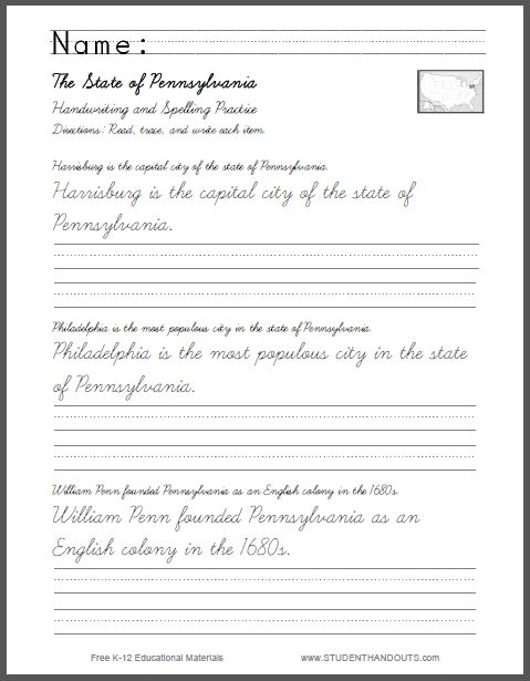 Worksheets Cursive Sentence Writing Practice 1000 images about cursive on pinterest sentence writing pennsylvania sentences in and print