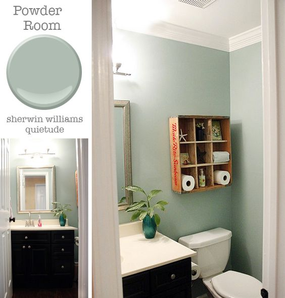 Powder Room Sherwin Williams Quietude Pretty Handy Girl All Things Paint