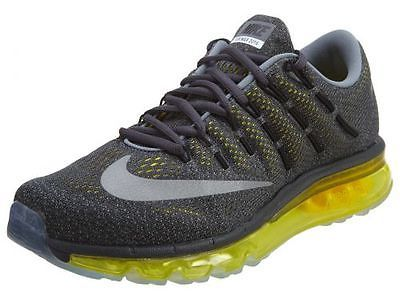 Nike Air Max 2016 Mens 806771-007 Anthracite Yellow Mesh Running Shoes Size  12