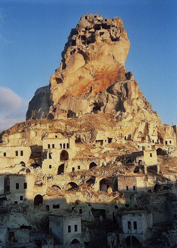 Ortahisar Castle, Cappadocia, Turkey: