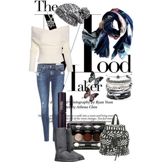 A fashion look from December 2014 featuring rag & bone jeans, UGG Australia boots and Domo Beads bracelets. Browse and shop related looks.