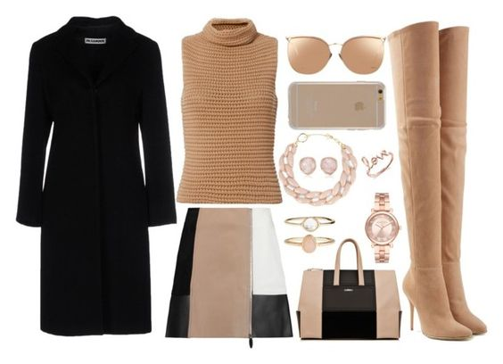 """""""Feelin the Fall"""" by rndmchick ❤ liked on Polyvore featuring Jil Sander, Exclusive for Intermix, Alexander Wang, Balmain, Accessorize, Michael Kors, DIANA BROUSSARD, Sydney Evan, Monica Vinader and Linda Farrow"""